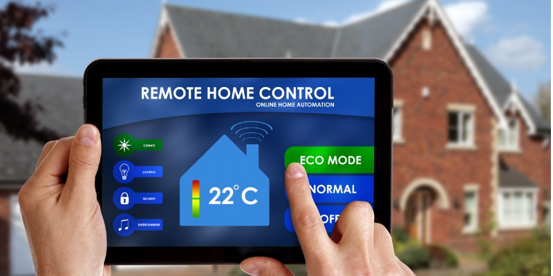Setting home temperature to eco mode for energy efficiency